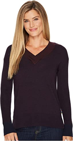 Smartwool - Akamina Color Block V-Neck Sweater