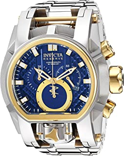 Invicta Men's Reserve Quartz Watch with Stainless Steel Strap, Silver, 37 (Model: 25205)