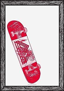 Poster « Skate Red » A3 21 x 29 - Impression sur Papier 250 g - Poster Mural - Film encadré - Tableaux Décoration Salon - ...