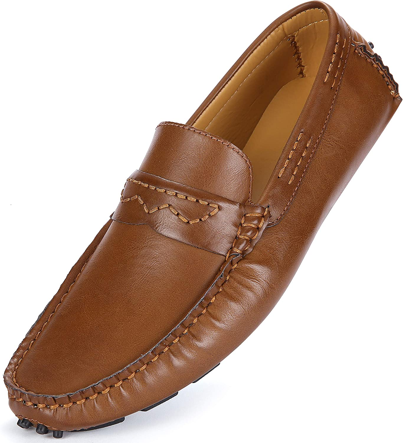 Marino Mens Penny Loafers - Comfortable and Lightweight Dress Casual Loafers - Slip-on Driving Shoes with Gift Shoe Bag