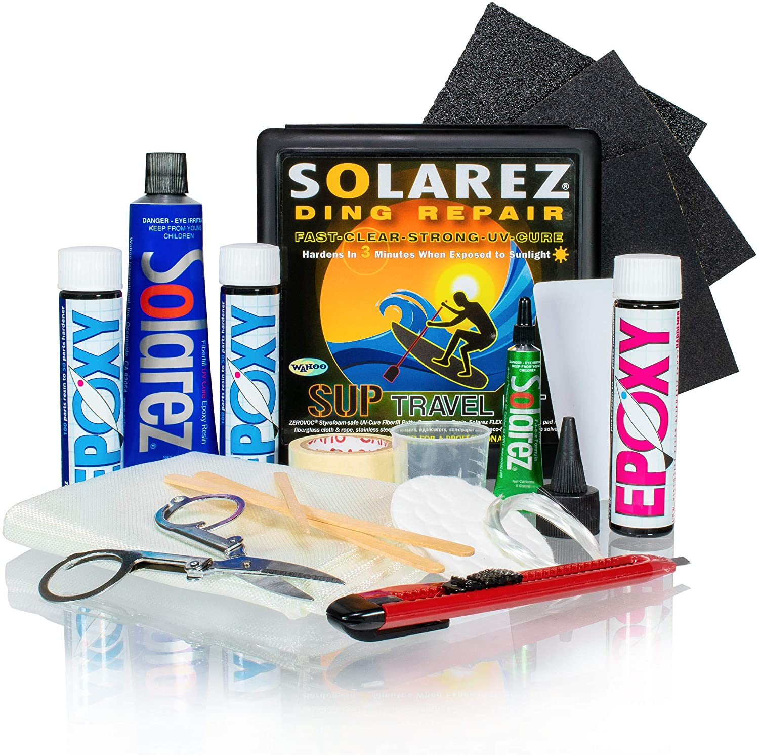 SOLAREZ UV Dealing full price reduction Cure SUP SEAL limited product Epoxy Pro Surfboard Travel Kit - Repai