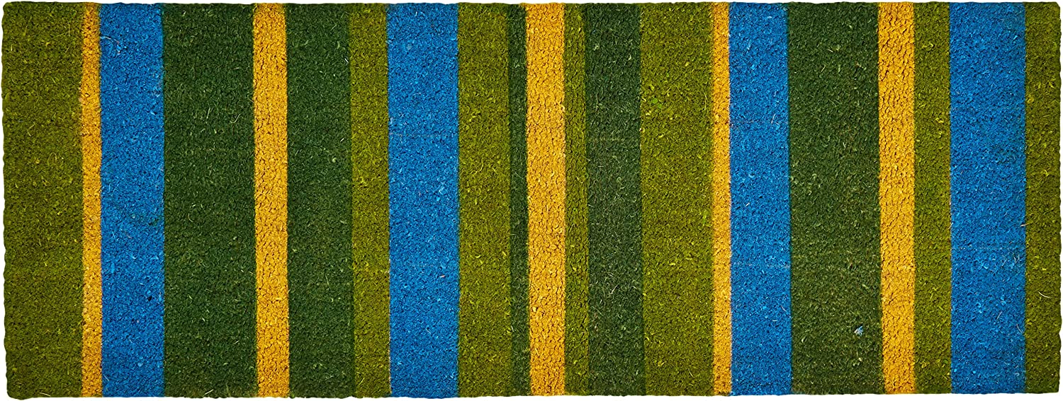 Imports Décor Vinyl Backed Coir Doormat Green by 48 18-Inch Max 45% OFF St Super sale period limited