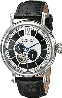 James McCabe (ジェームズ マッケイブ) メンズ JM-1007-01 ラーガン アナログディスプレイ 自動巻き ブラック 腕時計