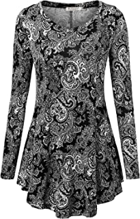 BAISHENGGT Women's Long Sleeve Loose Flared Tunic Top