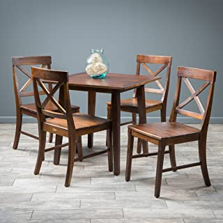 Christopher Knight Home Potter 5pc Mahogany Stained Wood Dining Set, Brown