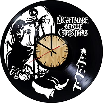 Jack and Sally Simply Meant to be Nightmare Before Christmas Vinyl Clock Gifts