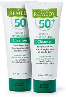 Remedy 50+ Gentle Plant-Based Hydrating Cleanser, 6 Ounce (2 Pack)