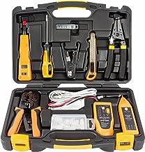 InstallerParts 15 Piece Network Installation Tool Kit - شامل تستر داده LAN، RJ11 / 45 Crimper، 66 110 Punch Down، 20-30 سیم سنج، ابزار چاقو، 2 در 1 پیچ گوشتی و مورد سخت