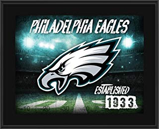 "Philadelphia Eagles 10.5"" x 13"" Sublimated Horizontal Team Logo Plaque - NFL Team Plaques and Collages"