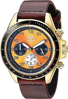 Vestal 'ZR2' Quartz Stainless Steel and Leather Casual Watch, Color:Brown (Model: ZR243L22.CVBK)