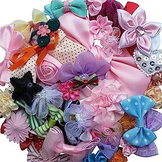 Lot de 50 accessoires, rubans, nœuds, fleurs A0241 pour mariage, par Chenkou
