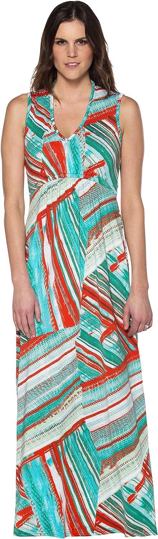Maxi Gathered V Neck Dress