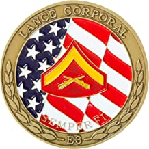 United States Marine Corps Lance Corporal Junior Enlisted Rank Challenge Coin