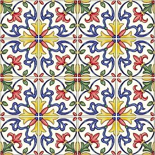 In Home NH2365 Tuscan Peel & Stick Backsplash Tiles, Multi-Color, 4 Piece