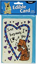Crunchkins Edible Crunch Card, Just Bepaws I Love You