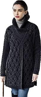 Women's Irish Oversized Side Zipped Collared Coat (100%...