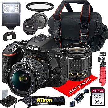 Nikon D5600 w/AF-P DX NIKKOR 18-55mm f/3.5-5.6G VR + Case + 32GB SD Card (15pc Bundle)