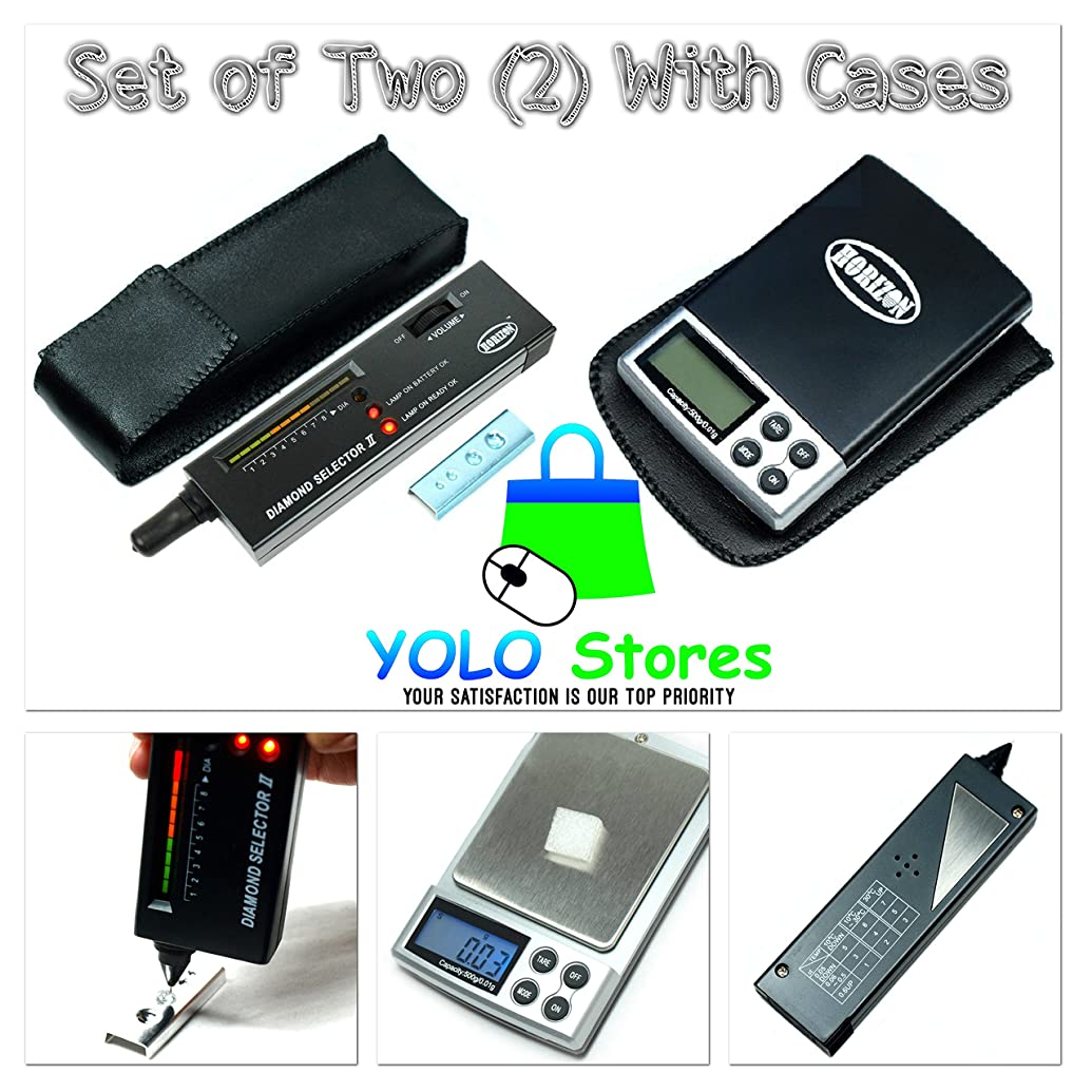 Diamond Selector II Tester & Digital Pocket Scale Gemstone Jewelry Tool Set w/Cases Portable by YOLO Stores