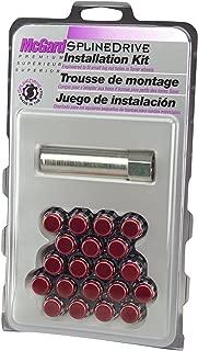 McGard 65557RCC Chrome with Red Cap SplineDrive Wheel Installation Kit (M12 x 1.5 Thread Size) - for 5 Lug Wheels