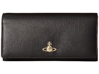 Vivienne Westwood Balmoral Long Wallet (Black 1) Wallet Handbags