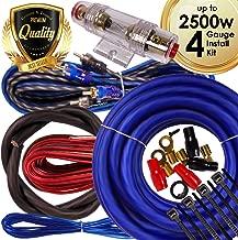 Complete 2500W Gravity 4 Gauge Amplifier Installation Wiring Kit Amp Pk2 4 Ga Blue - for Installer and DIY Hobbyist - Perfect for Car/Truck/Motorcycle/Rv/ATV, 2500W/BLUE, BGR-KIT4-PK2-BLUE-2500W