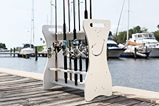 Fishing Rod Rack - Hook Design - Store and Organize up to 24 Fishing Rods and Reels