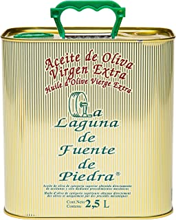 La Laguna de Fuente de Piedra   Extra Virgin Olive Oil   New Harvest 2018/19   84.5 fl oz   Single Origin   Small Batch   First Cold Press   Unblended   Family Estate   100% Viduena Olive   Spanish