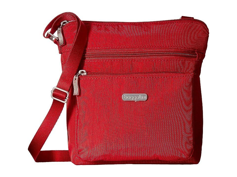 Baggallini Crossbody Bag w/ RFID Wristlet (Apple) Cross Body Handbags