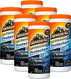 Armor All Air Freshening Protectant Wipes, Cool Mist, 25 ct, Case of 6