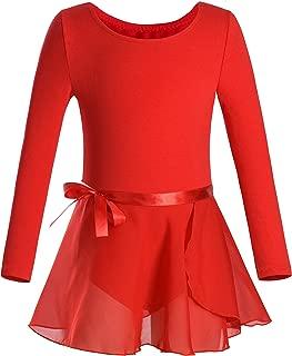 Girls Team Basic Long Sleeve Leotard Skirt Kid Dance Ballet Tutu Dress