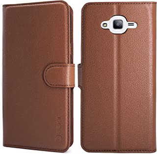 Samsung Galaxy J7 Case Wallet Brown, Samsung J7 Neo/Core/J700/Nxt Leather Case, Dekii Slim PU Leather Flip Case Cover with Card Slots, Magnetic Closure Phone Protective Case for Samsung Galaxy J7 2015