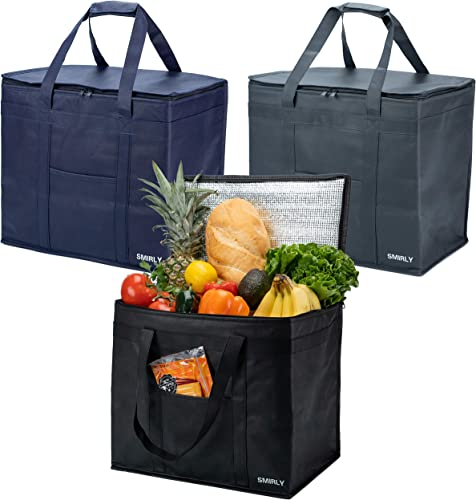 discount SMIRLY online Large Insulated Bag Set: Insulated Bags for Food Transport, Insulated Food Delivery Bag, Reusable Insulated Grocery Bags, Large Insulated Cooler Bag Insulated Thermal Bags for Cold and online Hot Food online sale