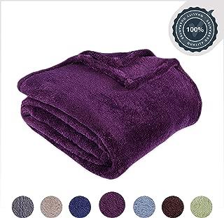 Berkshire Blanket Original Extra-Fluffy Bed Blanket, Queen, Eggplant