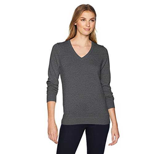 2dc9e5bb1ac9 Amazon Essentials Women's Lightweight V-Neck Sweater
