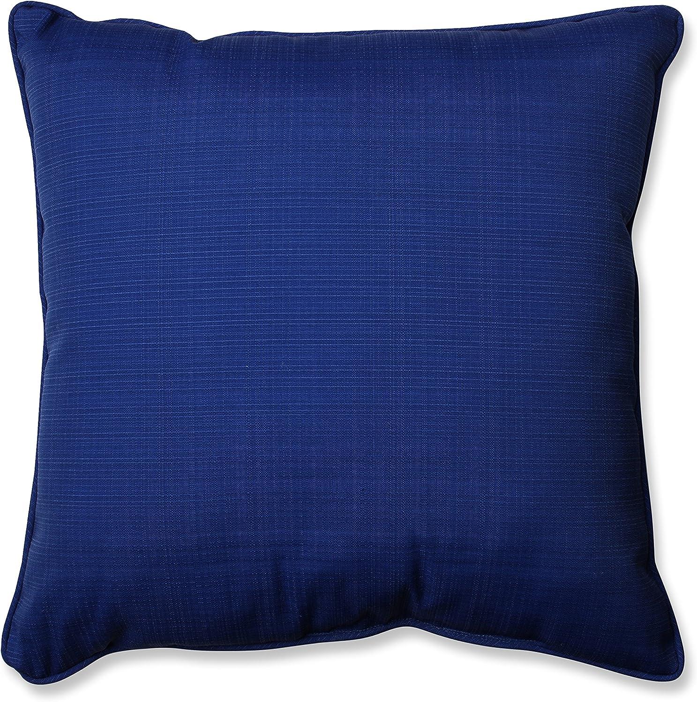Pillow Perfect Outdoor Indoor Fresco Floor Pillow, 25 , Solid, Navy bluee