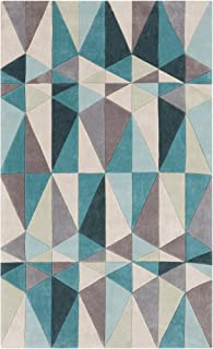 Surya Cosmopolitan COS-9169 Transitional Hand Tufted 100% Polyester Teal Blue 3'6