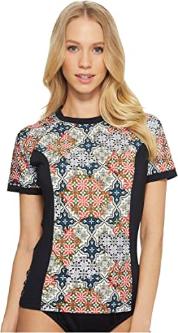 Patchwork Tiles Swim Shirt