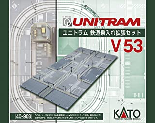 Kato N Scale Unitram/Unitrack V53 Straight Street Track to Concrete Tie Double Track Expansion Set With Track, Street Sections & Street Items KA-40-803