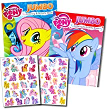 My Little Pony Coloring Book Super Set with Stickers (2 Jumbo Books and Sticker Pack Featuring Rainbow Dash, Fluttershy, Pinkie Pie and More!)