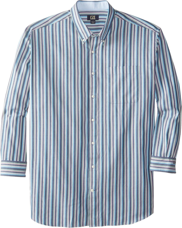 Cutter & Buck Men's Big-Tall Long Sleeve Low Tide Stripe Shirt