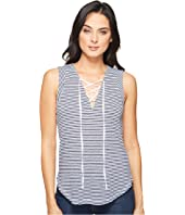 Splendid - Taft Point Mini Stripe Lace Up Tank