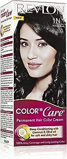 Revlon Color N Care Permanent Hair Color Cream For Women, Natural Black 1N