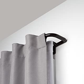 Umbra Twilight Double Curtain Rod Set – Wrap Around Design is Ideal for Blackout or Room Darkening Panels, 28 to 48-Inch, Auburn Bronze