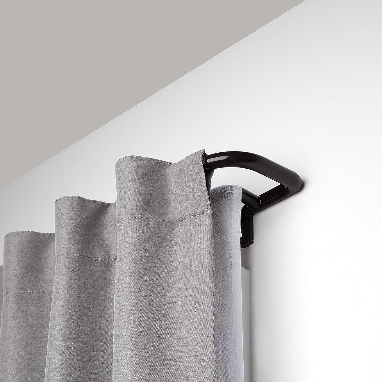 Umbra Twilight Double Rod Set – Wrap Around Design is Ideal for Blackout Room Darkening Curtains, 28 to 48 Inch, Auburn Bronze, 48-inch