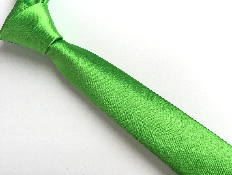 Secdtie Men's Skinny Solid Color Tie Eco-friendly Classic Necktie 2.4