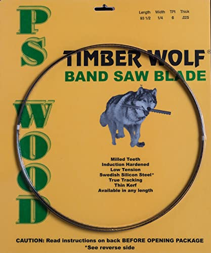 discount PS Wood Timber Wolf high quality 131 1/2 x 3/8 x 6 tpi band saw high quality blade sale