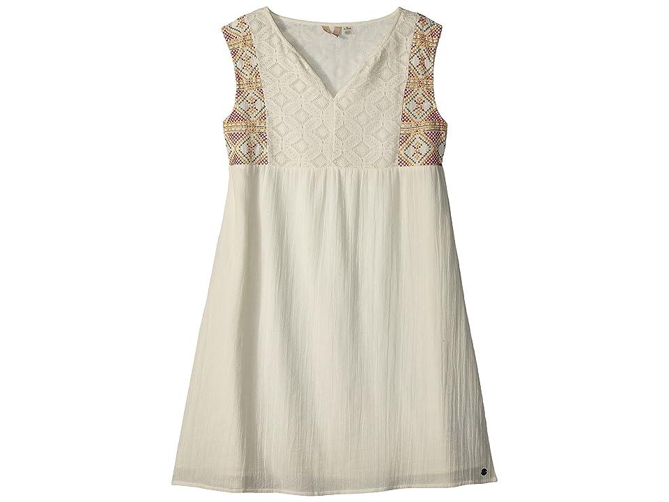 Roxy Kids Second Thought Dress (Big Kids) (Marshmallow) Girl