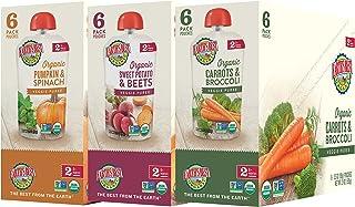 Earth's Best 2段 婴孩食品,蔬菜混合品种组装,18包