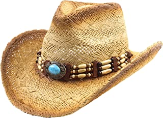 Classic Straw Cowboy Cowgirl Hat Western Outback w/Wide Brim