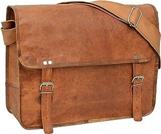 "Gusti Umhängetasche Leder - ""John 17"" Laptoptasche 17 Vintage Retro Braun Leder Umhängetasche Laptoptasche 17 Vintage Retro Braun Leder"